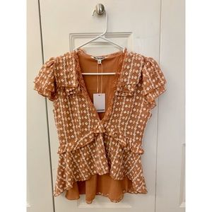 NWT Walter Baker lace top xs